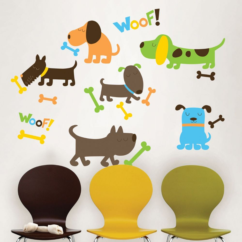 Puppy Love Dog Wall Sticker Set